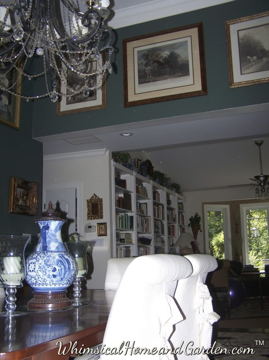 Dining room, looking towards library. This room has had a lot more architectural details added.