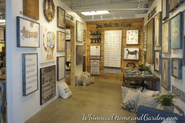This is a shot of their little showroom......so cute.