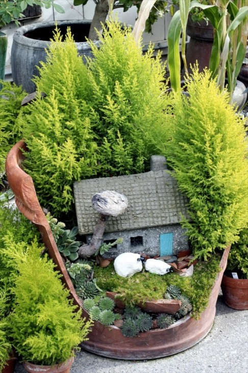 Another Way To Make A Fairy Garden Is To Use A Container, Large Or Small,  Where It Can Be Tucked Into The Garden, Or Stand Alone.