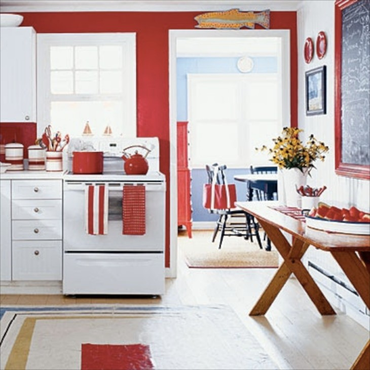 Superior Red Themed Kitchen Ideas Part - 9: Whimsical Home And Garden