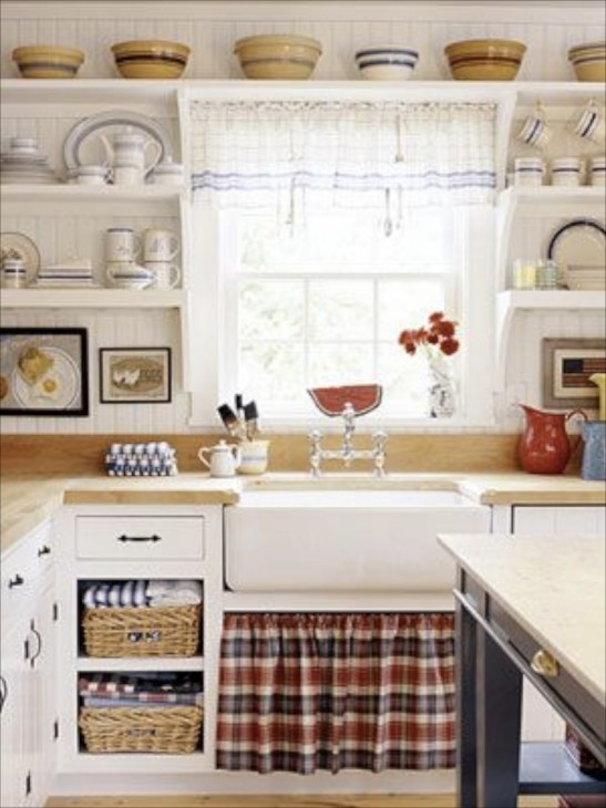 Red and white country kitchen original home designs for Red white and blue kitchen ideas
