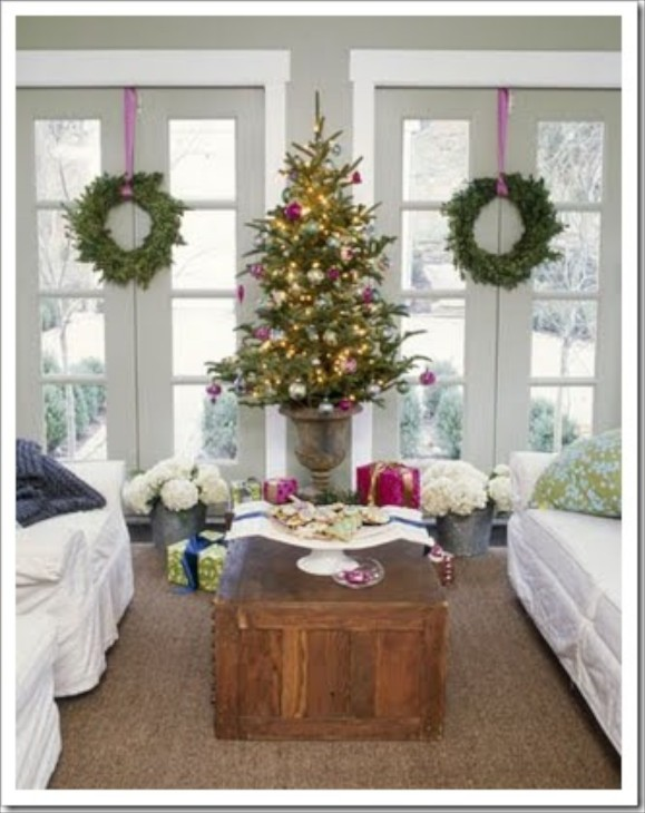 decorating the christmas tree - How To Decorate Urns For Christmas