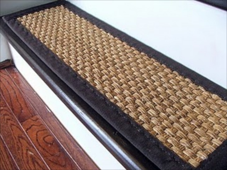 A Sisal Tread Cover. I Have Concerns About Tripping Because The Contrasting  Binding Could Catch A Toe Going Up The Stairs.