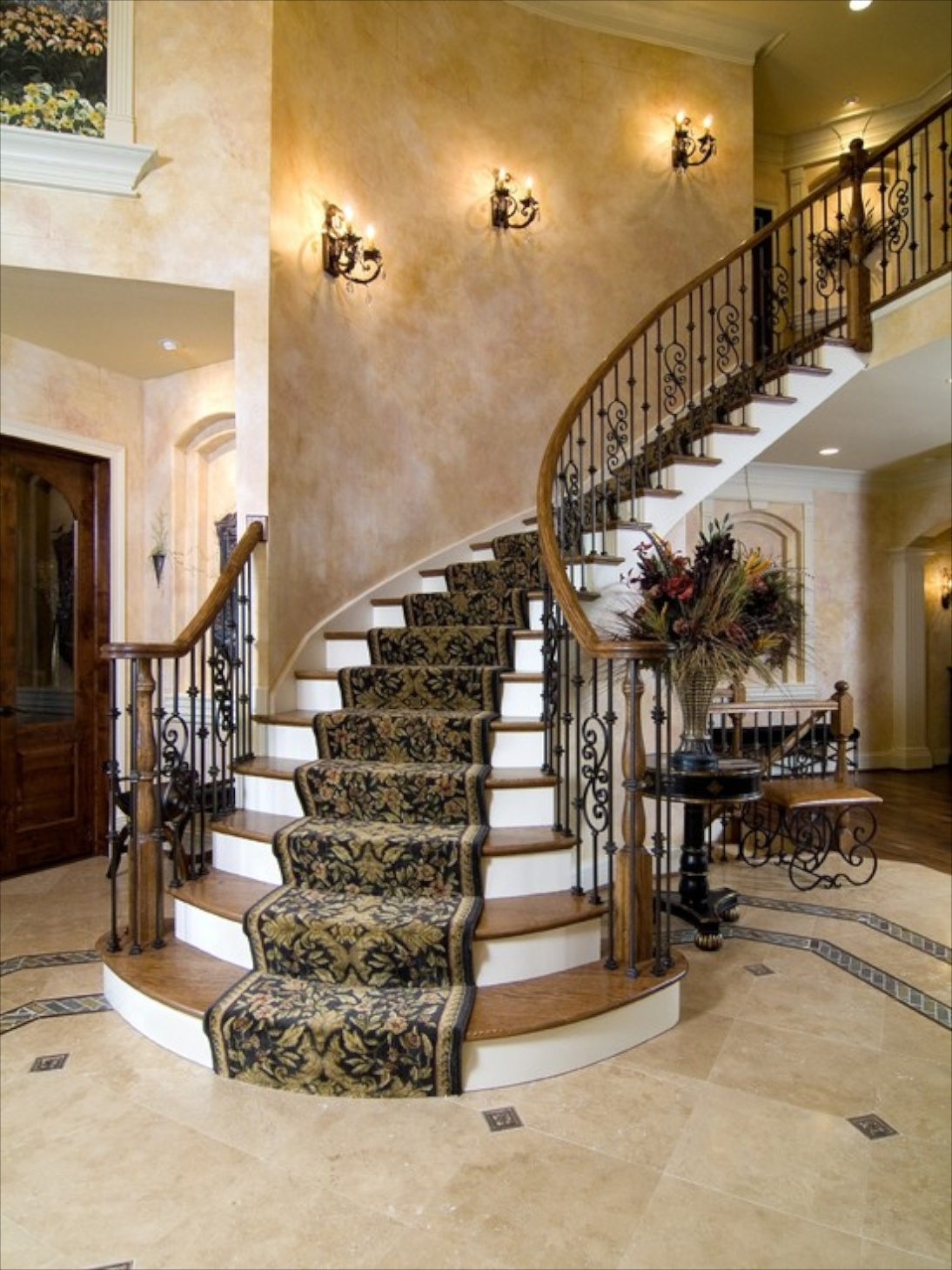 Add A Descriptionhttpwww Houzz Comcarpet Stair Treadsp112 on Round Circle House Floor Plans