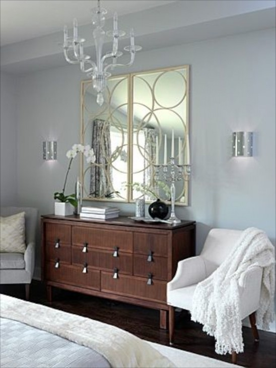 Interior Bedroom Dresser Ideas bedroom dresser decor i love how the circles in mirror are repeated punched out wall sconces silver on walls has increased impact because of