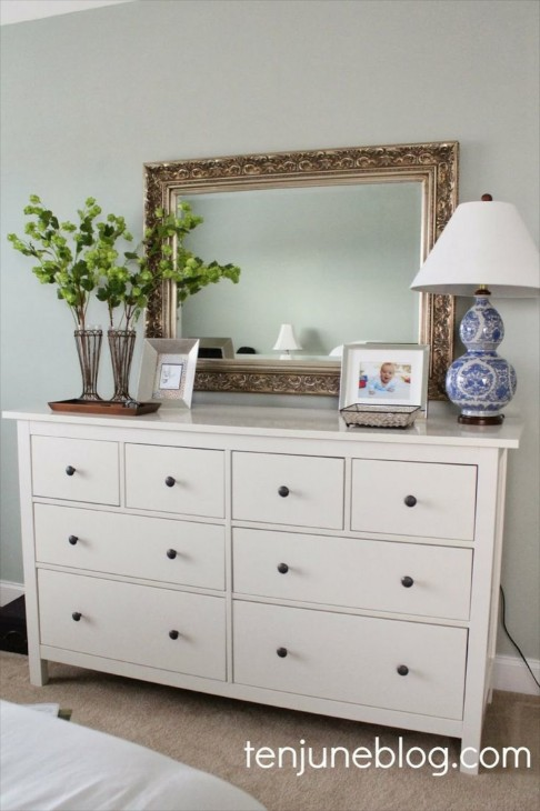 I Like The Clean Look Of This Vignette And Items Because Dresser Is Essentially Sleek In Design Think Might Have Hung Mirror Just A Wee Bit