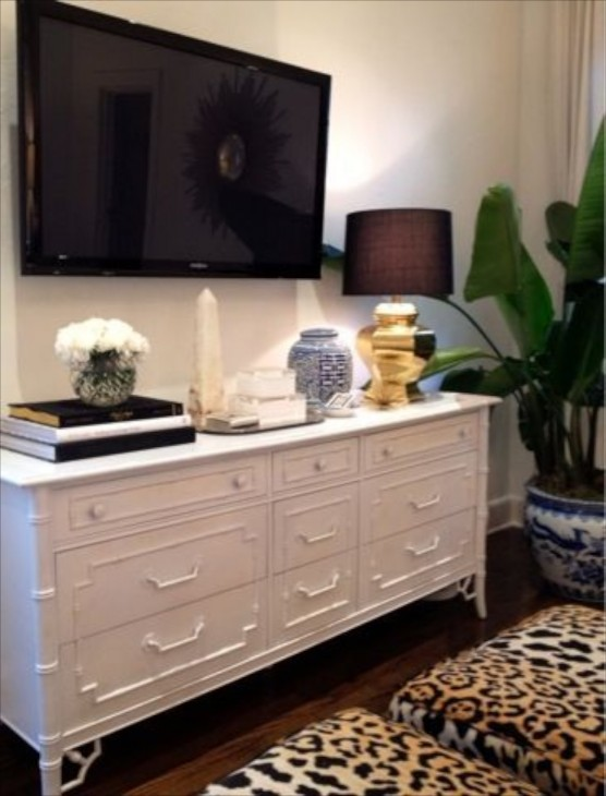 bedroom tv stand dresser.  Bedroom Dresser Decor