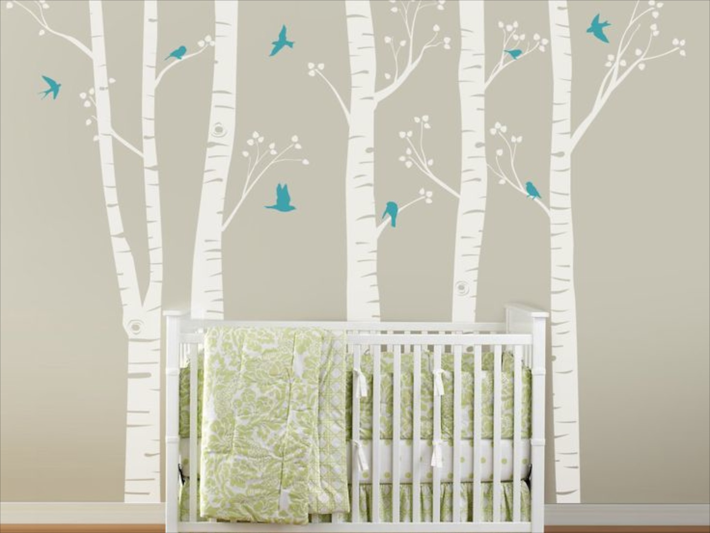 Extravagant tree branches for Birch trees mural