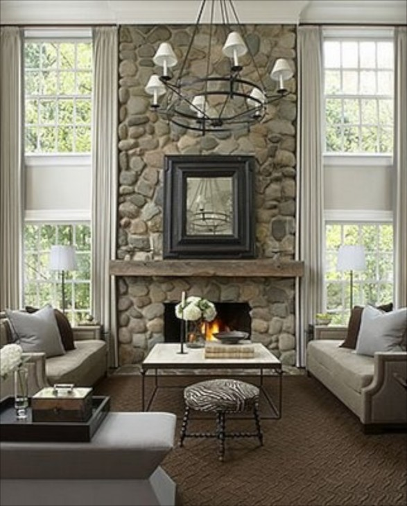 Dining Room Fireplace Ideas For Romantic Winter Nights: Decorating With Stone Inside The Home