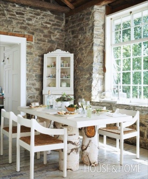 Add a description…http://houseandhome.com/design/rustic-birch-dining-table