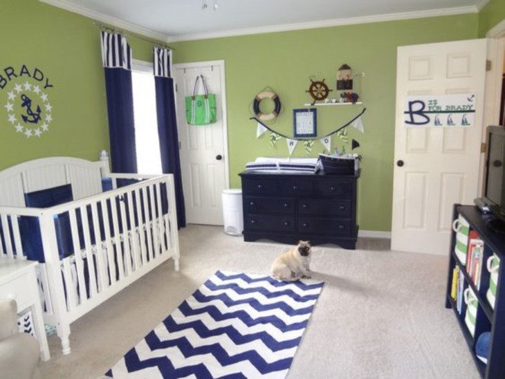 http://projectnursery.com/projects/green-and-navy-nautical-nursery/