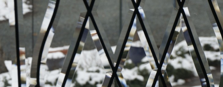 Leaded & Beveled Glass Front Entry Door …….