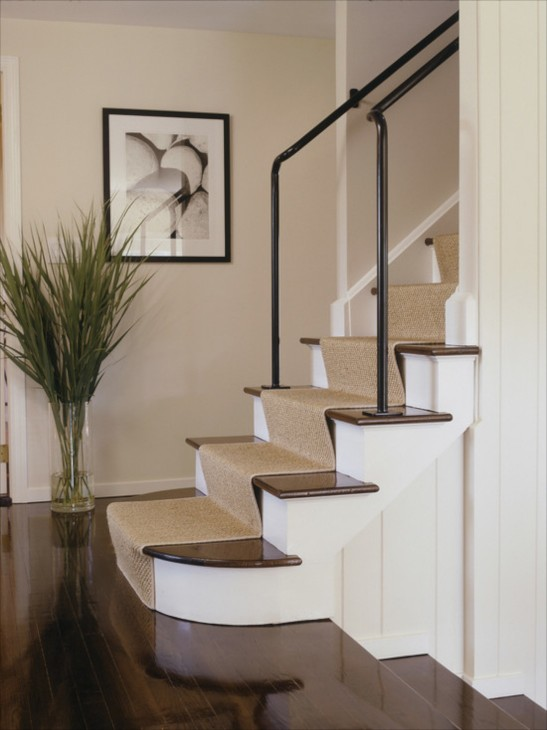 Here I See Two Areas Of Concern The Tread Depth At Bottom Stair Is Deeper Than Rest In Addition Carpet Loosely Adhered To Underside
